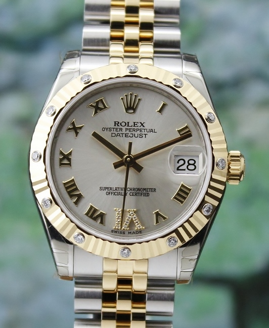 LIKE NEW UNPOLISHED ROLEX MID SIZE OYSTER PERPETUAL DATEJUST /178313