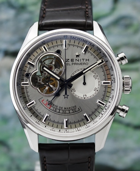 LIKE NEW UNPOLISHED ZENITH EL PRIMERO CHRONOMASTER POWER RESERVE / 03.2080.4021/01.C494