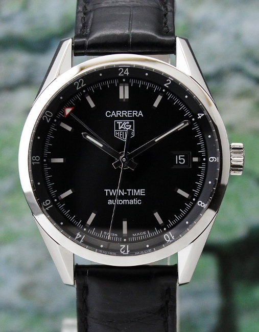 LIKE NEW TAG HEUER MEN SIZE AUTOMATIC CARRERA TWIN TIME / WV2115