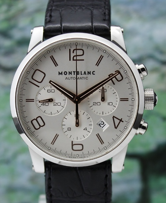 A MONT BLANC TIMEWALKER 42MM STAINLESS STEEL CHRONOGRAPH / 101549