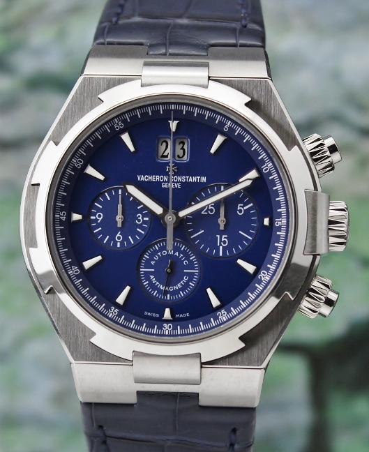 Like New Unpolished Vacheron Constantin Overseas Chronograph Watch / 49150