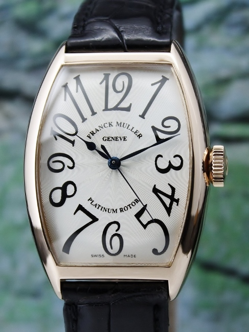 A FRANCK MULLER 18K PINK GOLD AUTOMATIC WATCH / 5850SC