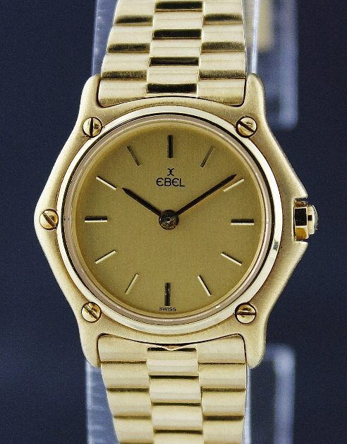 AN EBEL LADY 18K YELLOW GOLD WATCH
