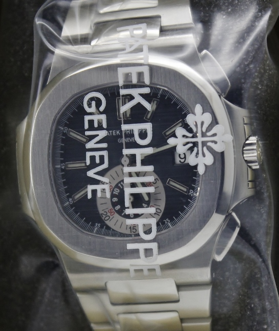 LIKE NEW PATEK PHILIPPE STAINLESS STEEL NAUTILUS CHRONOGRAPH / 5980/1A