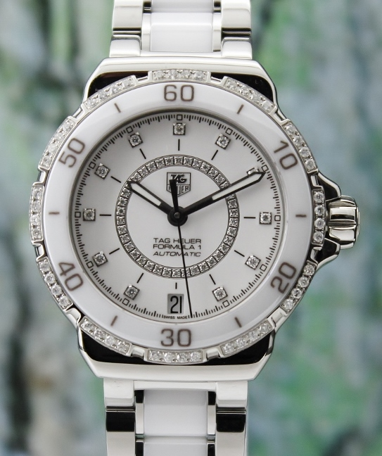 UNWORN TAG HEUER FORMULA 1 AUTOMATIC CERAMIC DIAMOND WATCH / WAU2213