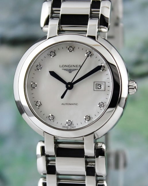 Longines Stainless Steel PrimaLuna Automatic Lady watch / L8.113.4