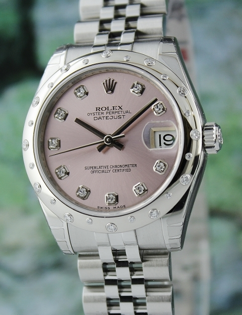 BRAND NEW ROLEX MID SIZE STEEL OYSTER PERPETUAL DATEJUST / 178344