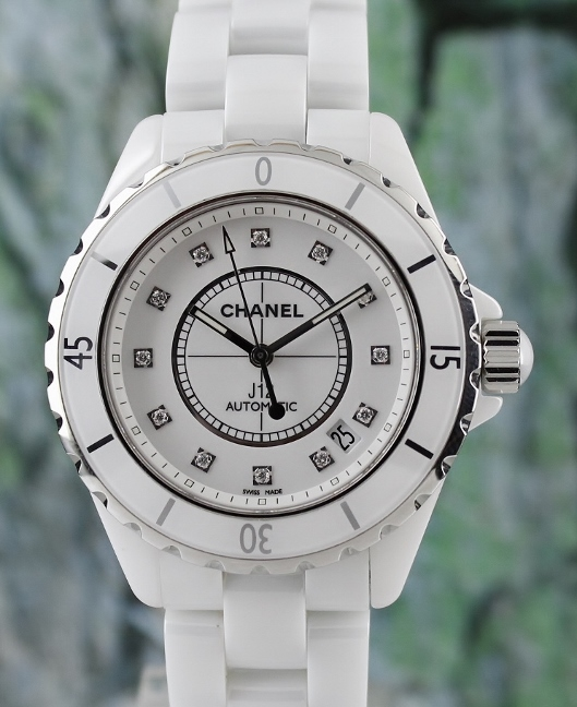 LIKE NEW CHANEL J12 41MM CERAMIC AUTOMATIC WATCH / H1629