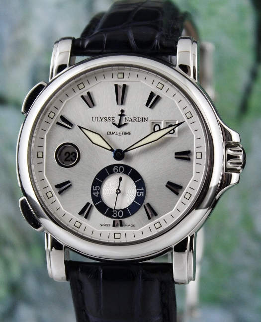 Ulysse Nardin Stainless Steel Dual Time Big Date GMT / 243-55