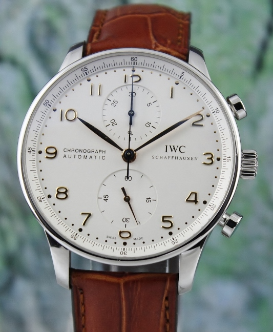 IWC Portuguese Chronograph Stainless Steel Automatic Watch / IW371401