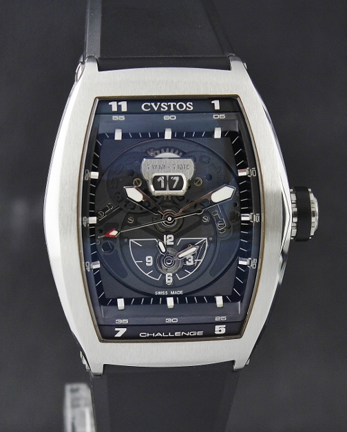 LIKE NEW CVSTOS PVD STAINLESS STEEL CHALLENGE TWIN TIME