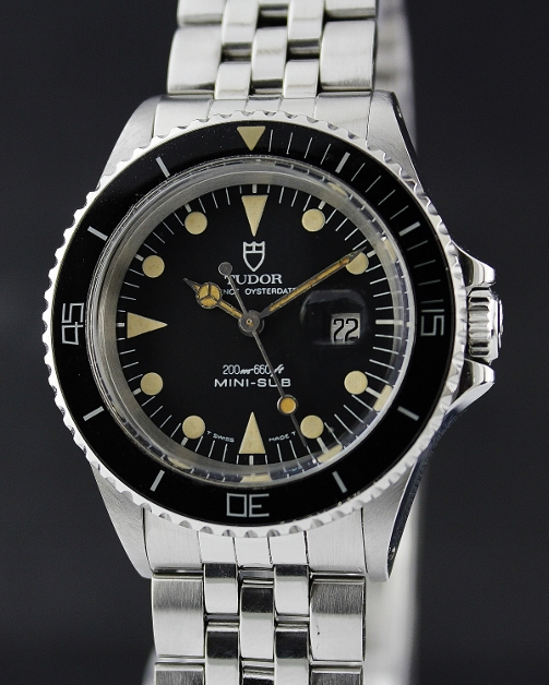 A TUDOR STAINLESS STEEL MINI SUBMARINER / CERT