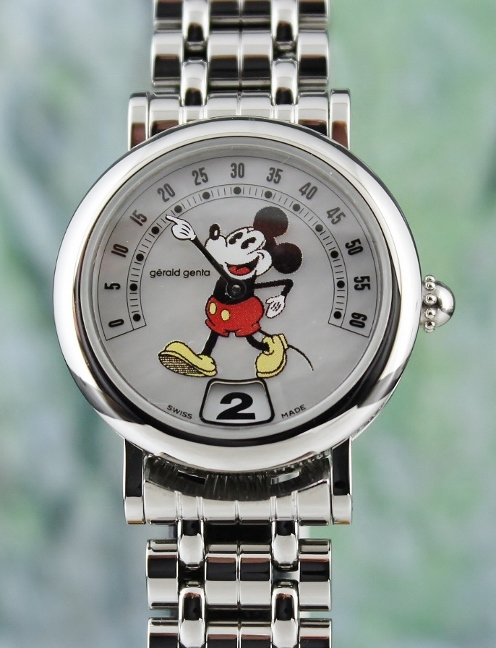 A GERALD GENTA MICKEY MOUSE RETRO FANTASY STAINLESS STEEL
