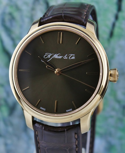 H.MOSER & CIE 18K ROSE GOLD MANUAL WINDING WATCH / 343.505.018