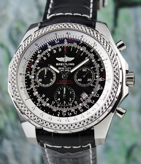 BREITLING STAINLESS STEEL BENTLEY 48MM WATCH / A25362