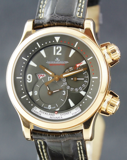 LIKE NEW Jaeger le Coultre JLC Master Compressor Geographic Rose Gold / 146.2.83/1