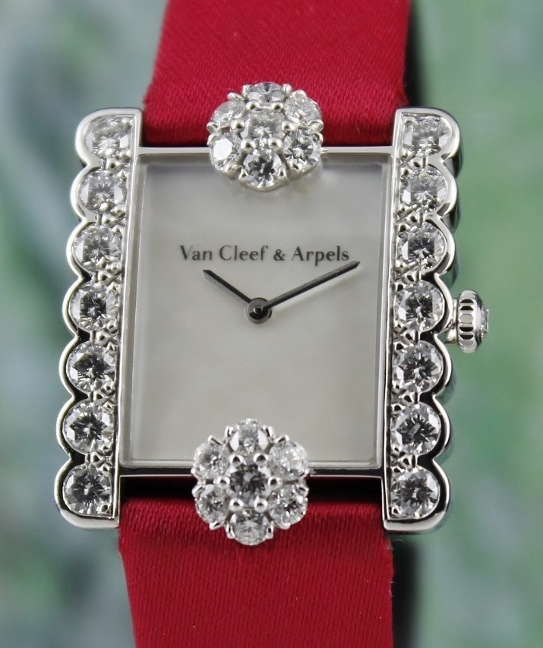 Van Cleef & Arpels 18K White Gold Lady Diamond Watch