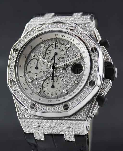1792214deba1 LIKE NEW 100% Original AP Royal Oak Offshore 18K White Gold Full Case  Diamond