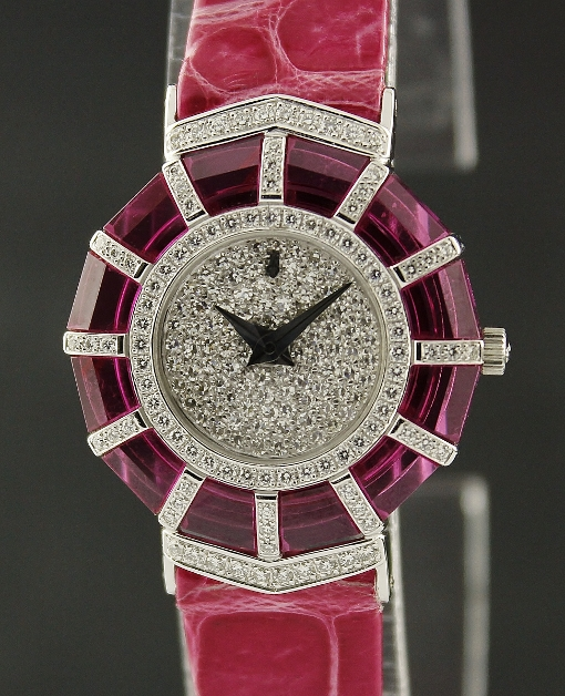 LIKE NEW UNWORN RARE CORUM 18K WHITE GOLD DIAMOND WATCH