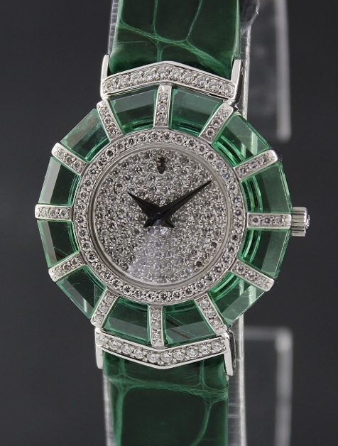 RARE CORUM 18K WHITE GOLD DIAMOND WATCH