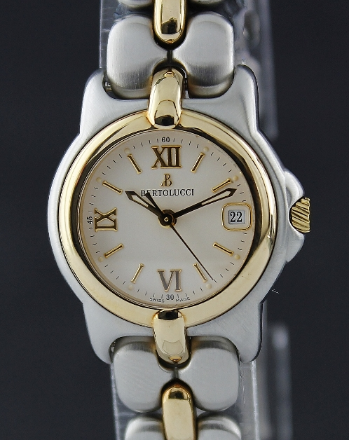 Bertolucci Vir Ladies Gold & Steel Date Watch