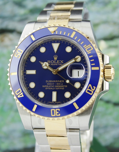 UNWORN ROLEX OYSTER PERPETUAL DATE CERAMIC BEZEL SUBMARINER/ 116613LB / NEW LATEST DIAL