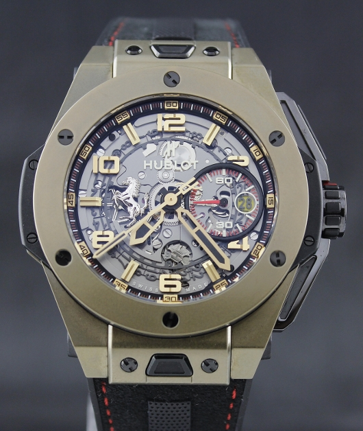 Like New Hublot Big Bang Ferrari Magic Gold / 401.MX.0123.GR
