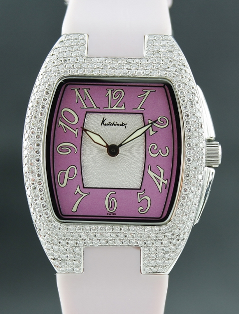 A Kutchinsky Stainless Steel Diamond Lady Watch