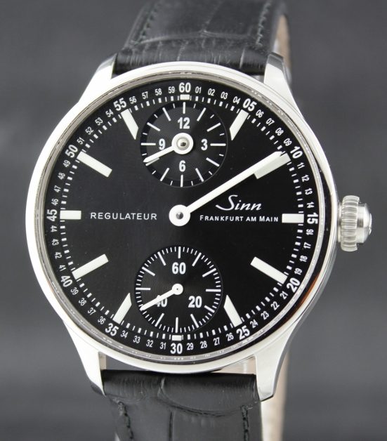 A CLASSIC SINN STAINLESS STEEL MANUAL WINDING REGULATEUR / 6100.1147