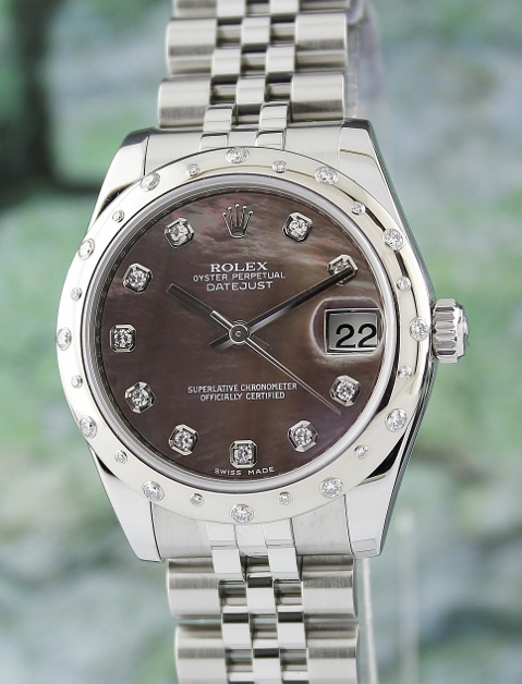 LIKE NEW ROLEX MID SIZE STEEL OYSTER PERPETUAL DATEJUST / 178344 / MOP