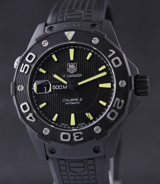 A LIKE NEW TAG HEUER AQUARACER 500M CALIBRE5 / WAJ2180