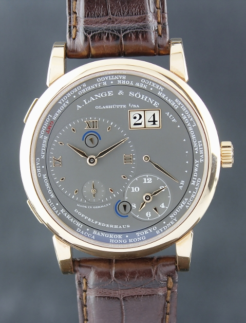 NEW UNWORN A. Lange & Sohne Lange 1 18K Pink Gold Time Zone / 116.032