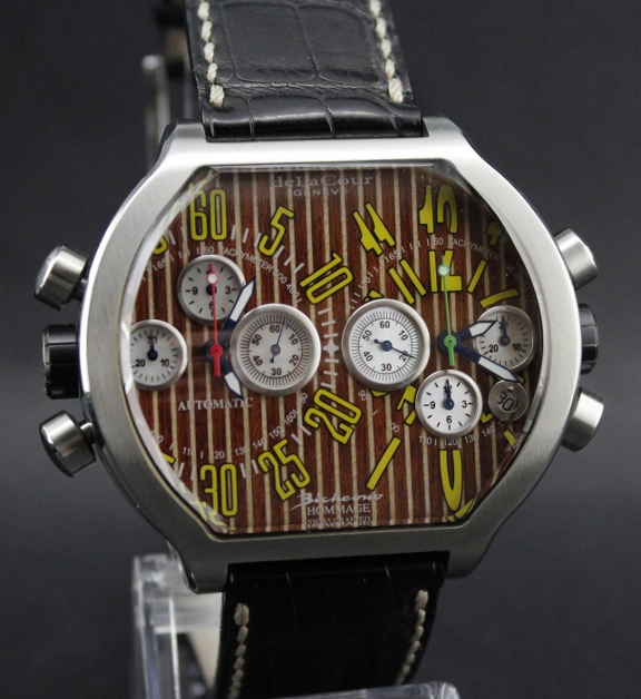 A deLaCour Limited Edition SII BICHRONO / Wood Dial