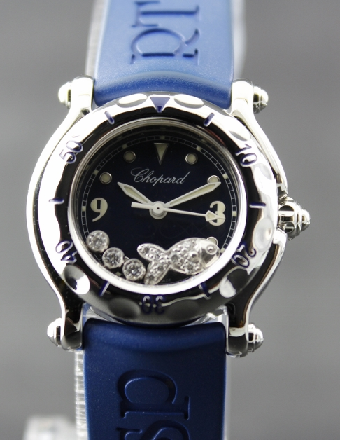 "A CHOPARD LADY SIZE STAINLESS STEEL ""HAPPY FISH"" / 278923-3001"