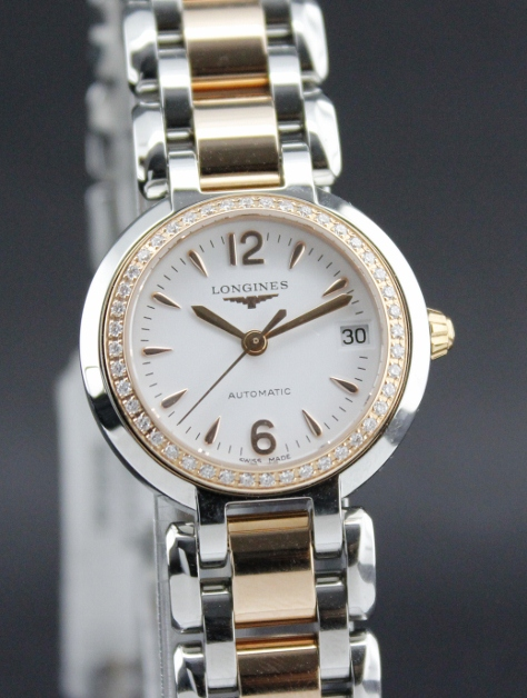 BRAND NEW LONGINE PINK GOLD DIAMOND WATCH