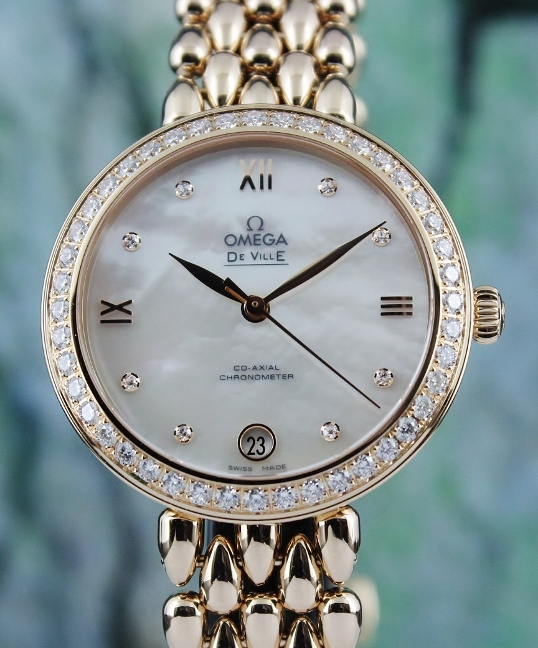 Like New Omega De Ville Prestige Dewdrop Co-Axial In 18K Rose Gold / 42455332055007 - Click Image to Close