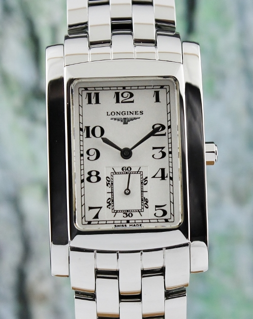 A LONGINES DOLCE VITA MEN SIZE STAINLESS STEEL WATCH / L5.655.4