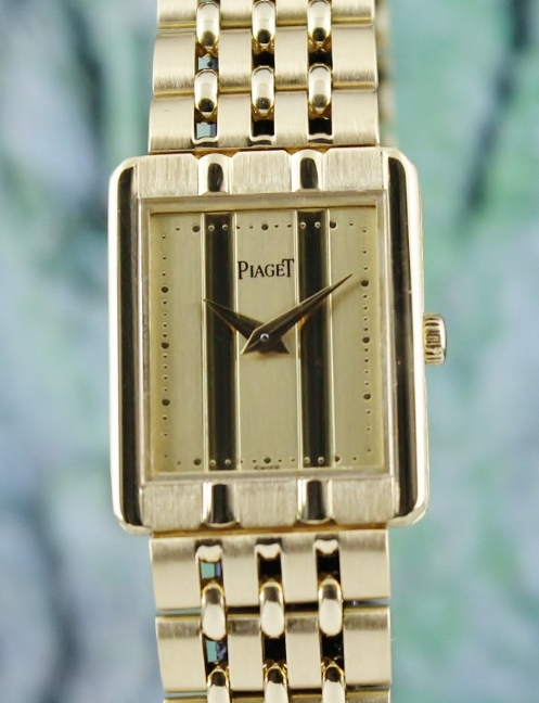 A 18K YELLOW GOLD LADY SIZE PIAGET QUARTZ WATCH / 8393