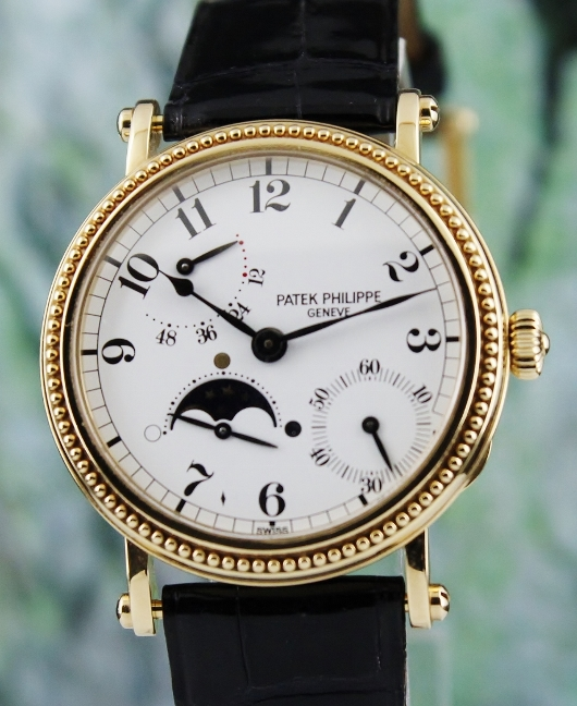 18K YELLOW GOLD PATEK PHILIPPE MOON PHASE POWER RESERVE / 5015J