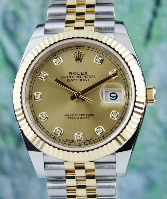 UNWORN UNPOLISHED ROLEX 40MM OYSTER PERPETUAL DATEJUST / 126333
