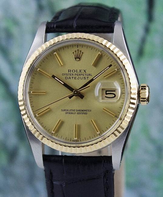 ROLEX VINTAGE MEN SIZE OYSTER PERPETUAL DATEJUST / 16013