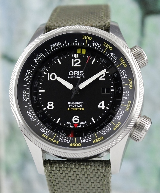 Unpolished Oris Big Crown Pro Pilot Altimeter Automatic Watch / 0173377054164