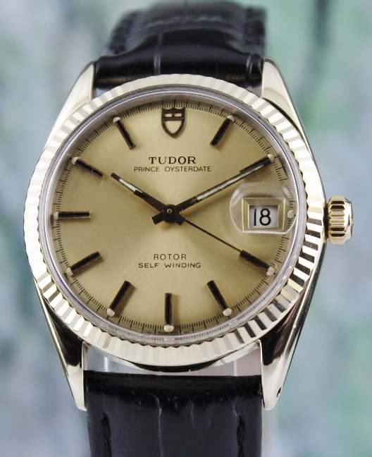 "TUDOR ""GOLD FILLED"" STAINLESS STEEL AUTOMATIC WATCH / 90715"