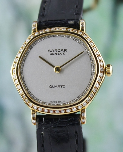 SARCAR 18K YELLOW GOLD ORIGINAL DIAMOND WATCH