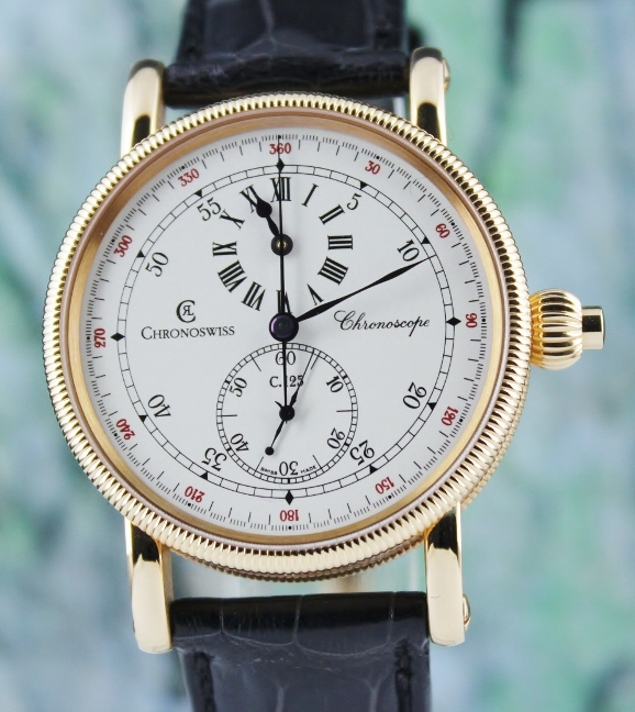 Unworn New Chronoswiss Chronoscope Regulator 18K Rose Gold / CH1521R