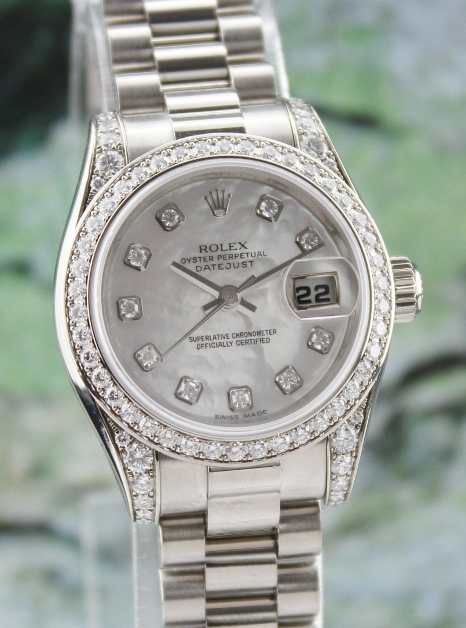 100% ORIGINAL ROLEX 18K LADY SIZE OYSTER PERPETUAL DATEJUST / 179159