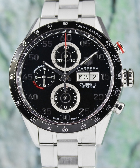 TAG HEUER CHRONOGRAPH CALIBRE 16 DAY-DATE CARRERA / CV2A10