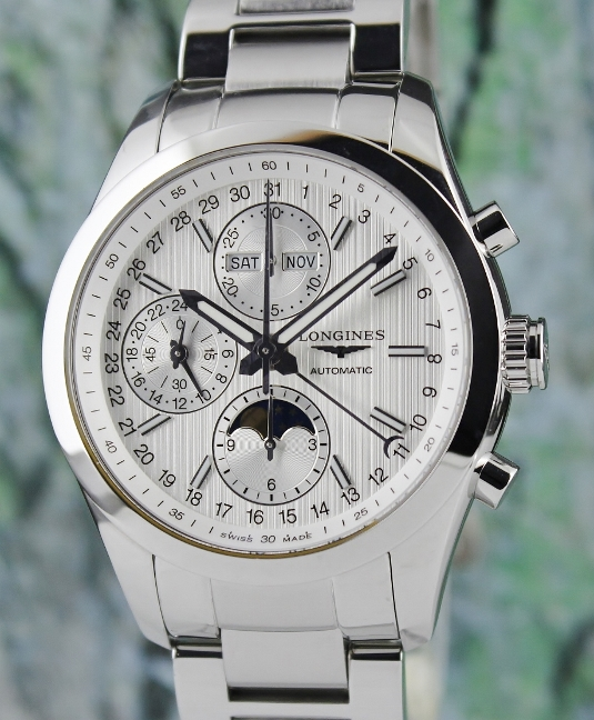 Longines Conquest Chronograph Moonphase Automatic Watch / L2.798.4.72.6
