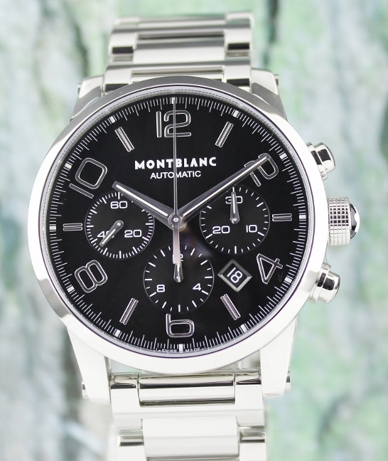 UNWORN MONT BLANC TIMEWALKER 43MM CHRONOGRAPH WATCH / 9668
