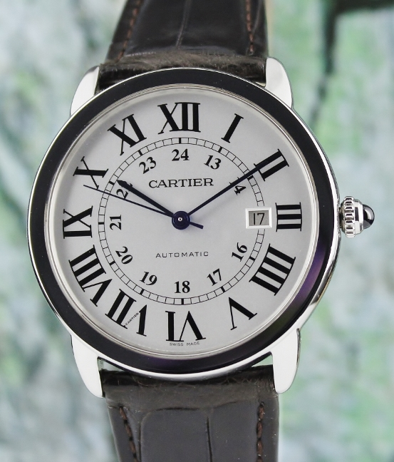 CARTIER RONDE SOLO DE CARTIER AUTOMATIC WATCH /